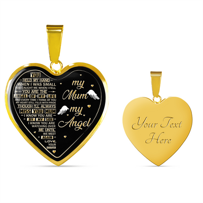 MY MUM MY ANGEL - 18K GOLD FINISH - NECKLACE & BANGLE