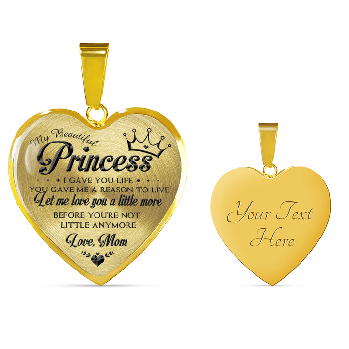 MY BEAUTIFUL PRINCESS - NECKLACE & BANGLE - REAL 18K GOLD FINISH & SILVER VERSION