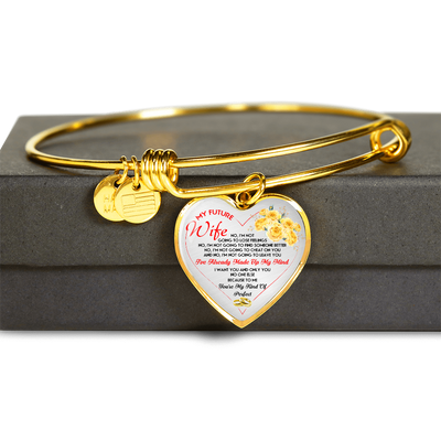 MY FUTURE WIFE - NECKLACE & BANGLE - REAL 18K GOLD FINISH