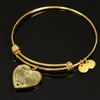 MY DAUGHTER - REAL 18K GOLD FINISH - NECKLACE & BANGLE