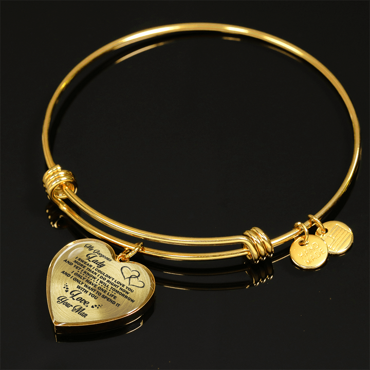 MY GORGEOUS LADY - NECKLACE & BANGLE - 18K GOLD & SILVER VERSION