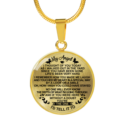 MY ANGEL - HIGH QUALITY NECKLACE - REAL 18K GOLD FINISH