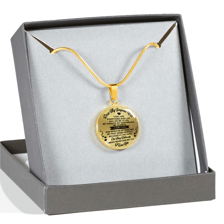 BEST GIFT FOR YOUR GORGEOUS WIFE - REAL 18K GOLD FINISH & SILVER VERSION - LUXURY NECKLACE
