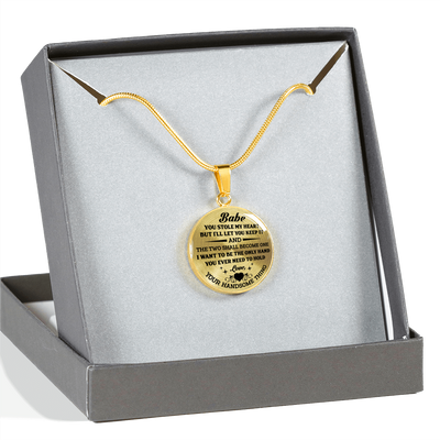 FOR YOUR LOVED ONE - REAL 18K GOLD FINISH & SILVER VERSION - LUXURY NECKLACE