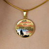 DAUGHTER DAD NECKLACE - HIGH QUALITY - REAL 18K GOLD FINISH & SILVER