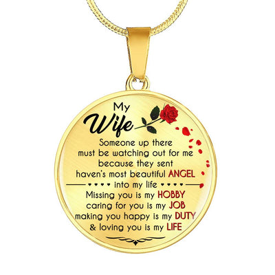 MY WIFE - BEAUTIFUL ANGEL - NECKLACE & BANGLE