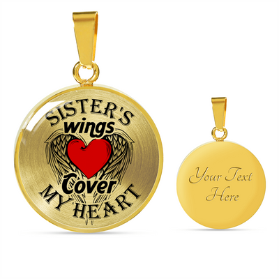 MY SISTER'S WINGS - REAL 18K GOLD FINISH & SILVER