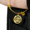 TO MY DAUGHTER - NECKLACE & BANGLE - REAL 18K GOLD FINISH