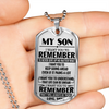 MY SON - REMEMBER TO NEVER GIVE UP - MOM