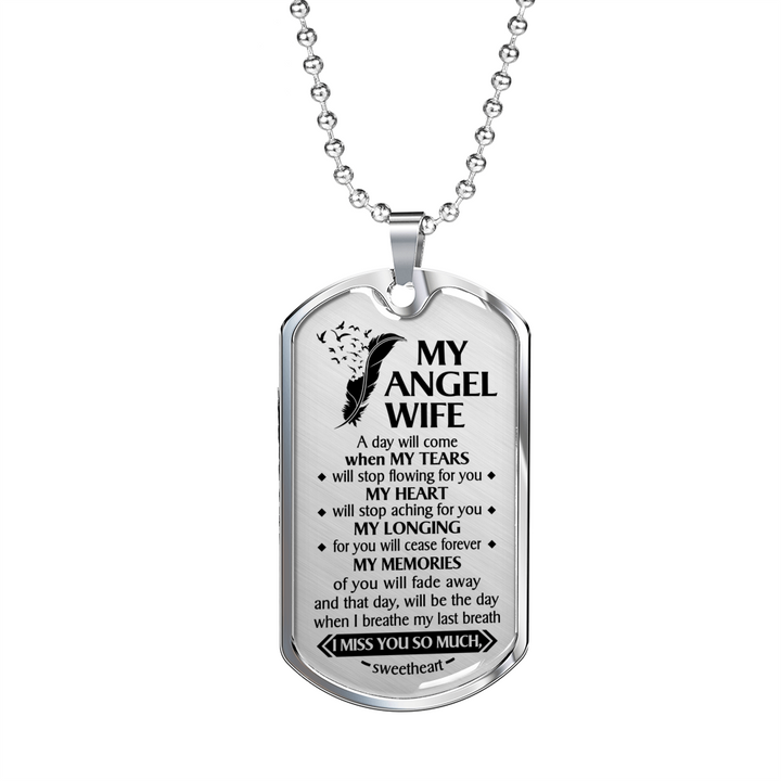 My Angel Wife Dog Tag Love This Family