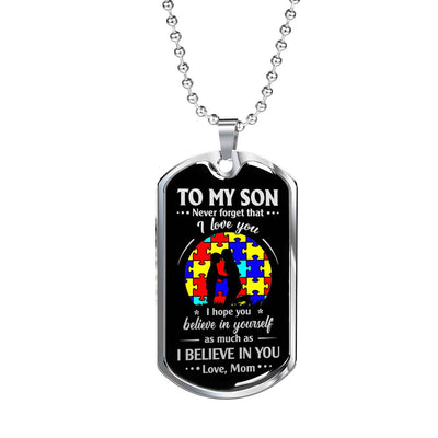 SON MOM - BELIEVE IN YOURSELF - AUTISTIC CHILDREN