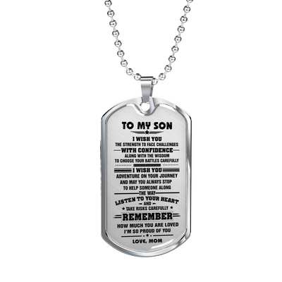 SON MOM - I WISH YOU DOG TAG