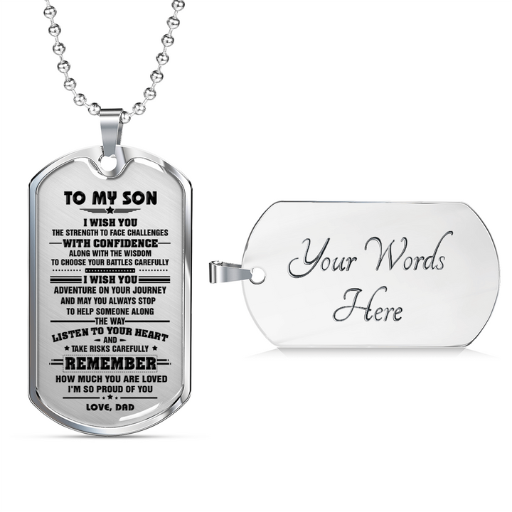 SON DAD - I WISH YOU DOG TAG