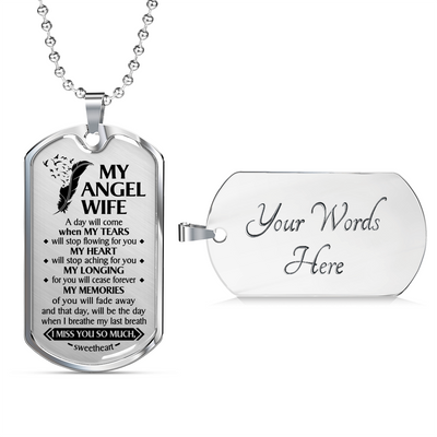 MY ANGEL WIFE - DOG TAG