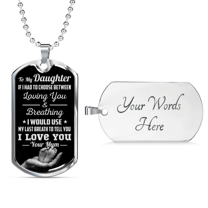 DAUGHTER MUM - LAST BREATH (SILVER)