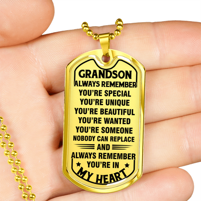 TO GRANDSON - IN MY HEART