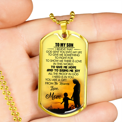 SON MOM - GIFT FROM HEAVEN (GOLD)