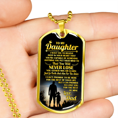 DAUGHTER DAD - NEVER LOSE (GOLD)