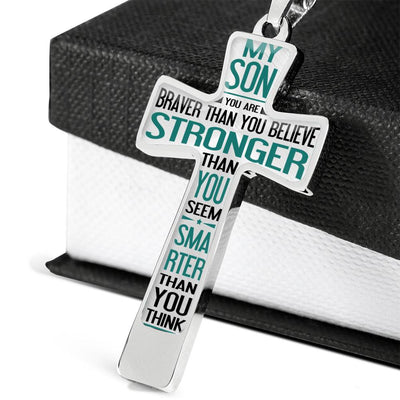 SON - BRAVER THAN YOU BELIEVE - CROSS NECKLACE