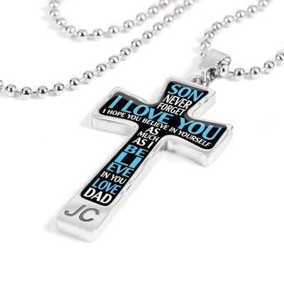 SON DAD - BELIEVE IN YOURSELF - CROSS NECKLACE