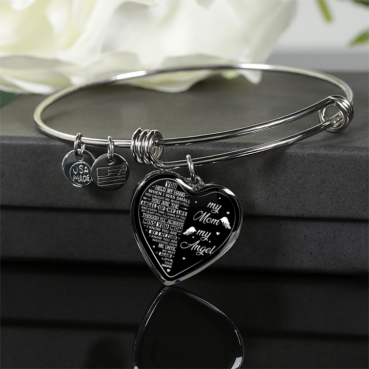 MY MOM MY ANGEL - SILVER VERSION - NECKLACE & BANGLE