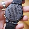 ENGRAVED WOODEN WATCH - SON DAD - I WISH YOU