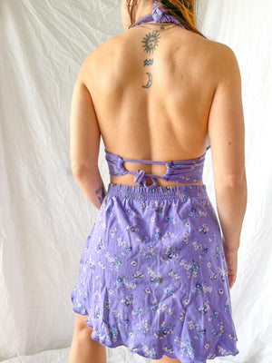 Load image into Gallery viewer, Lavender Halter Set