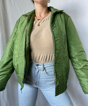 Load image into Gallery viewer, Super Vintage Green Puffer