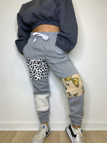 Grey Patchwork Sweats (S)