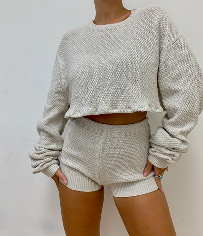 Oatmeal Knit Sweater Set