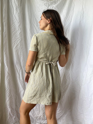 Load image into Gallery viewer, 80's Gingham Print Mini Dress