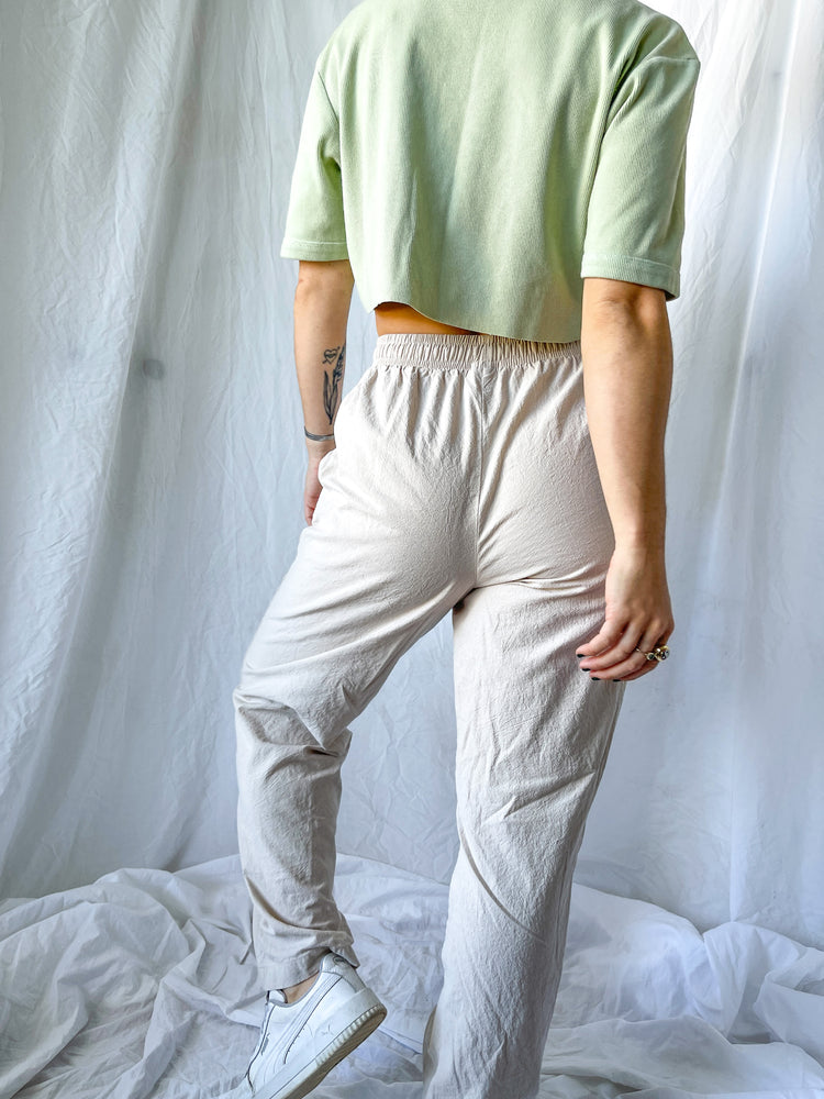 Tan Cotton Pants