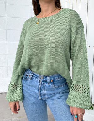 Daybreak Knit Sweater - Sage