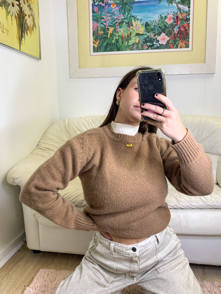 Chocolate Wool Sweater
