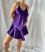 Purple Rain Silk Slip