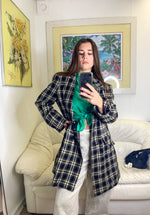Plaid Mid-Length Jacket