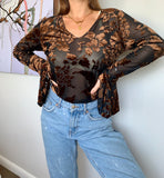 Vintage Sheer Boutique Top