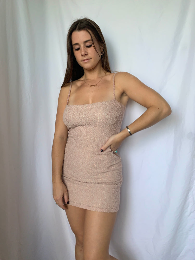 Pink Detailed Bodycon Dress