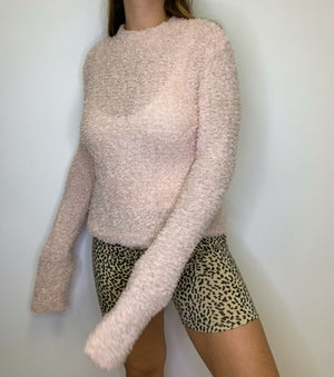 BB Pink Fuzzy Sweater