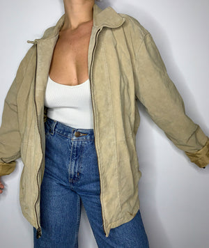 Load image into Gallery viewer, Oatmeal Suede Jacket