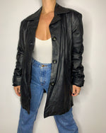 Vintage Duster Leather Jacket