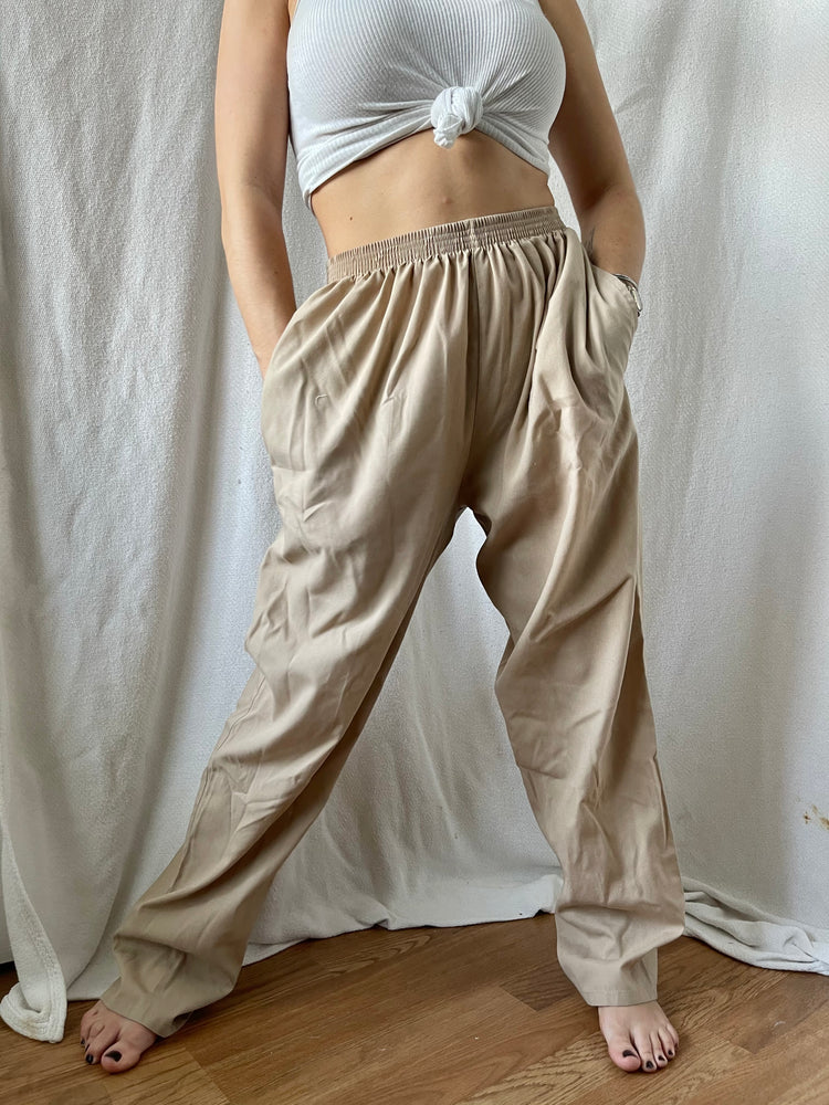 Load image into Gallery viewer, Light Tan Lounge Pants