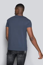 Appliqué Mercerised Tee - Ombre Blue