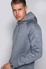 Core Poly Hooded Track Top - Grey Marl