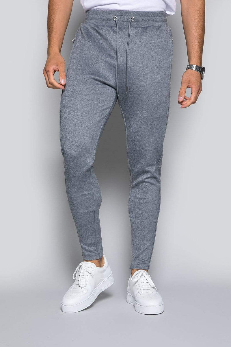 Core Poly Track Pant - Grey Marl