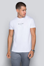 Logo Mercerised Tee - White