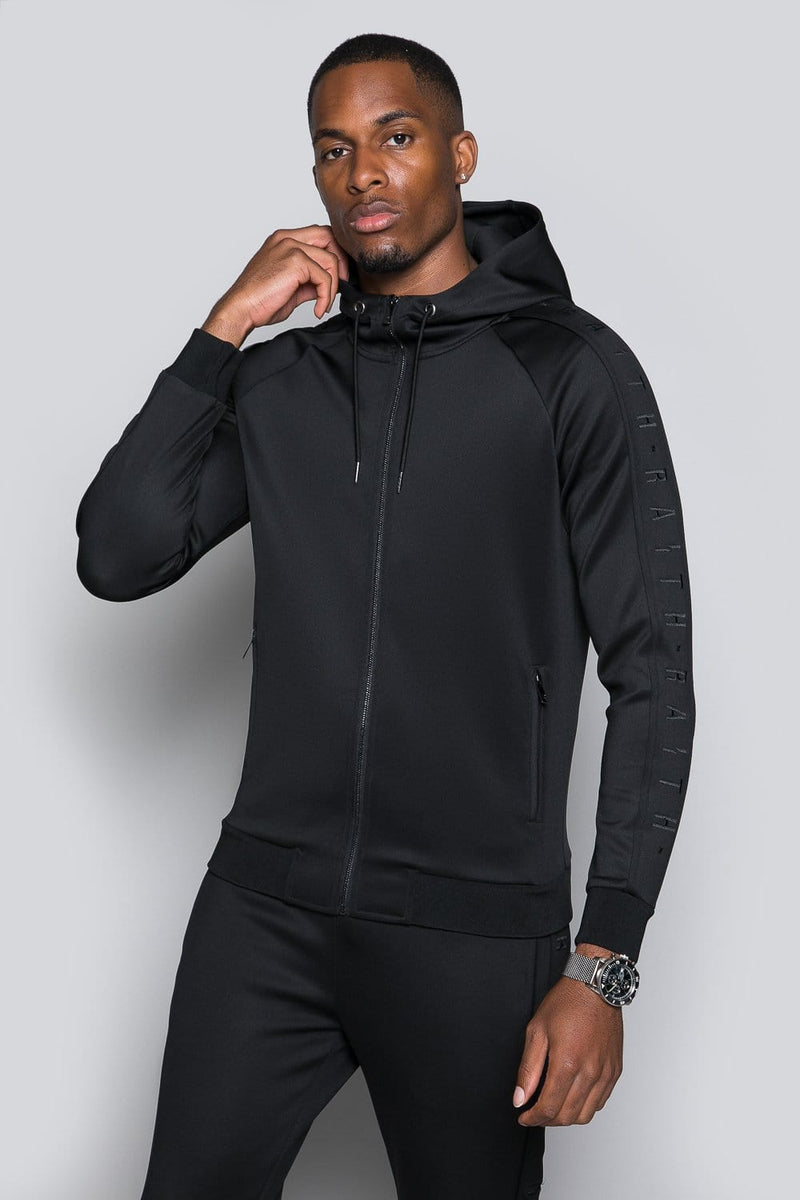 Core Poly Hooded Track Top - Blackout