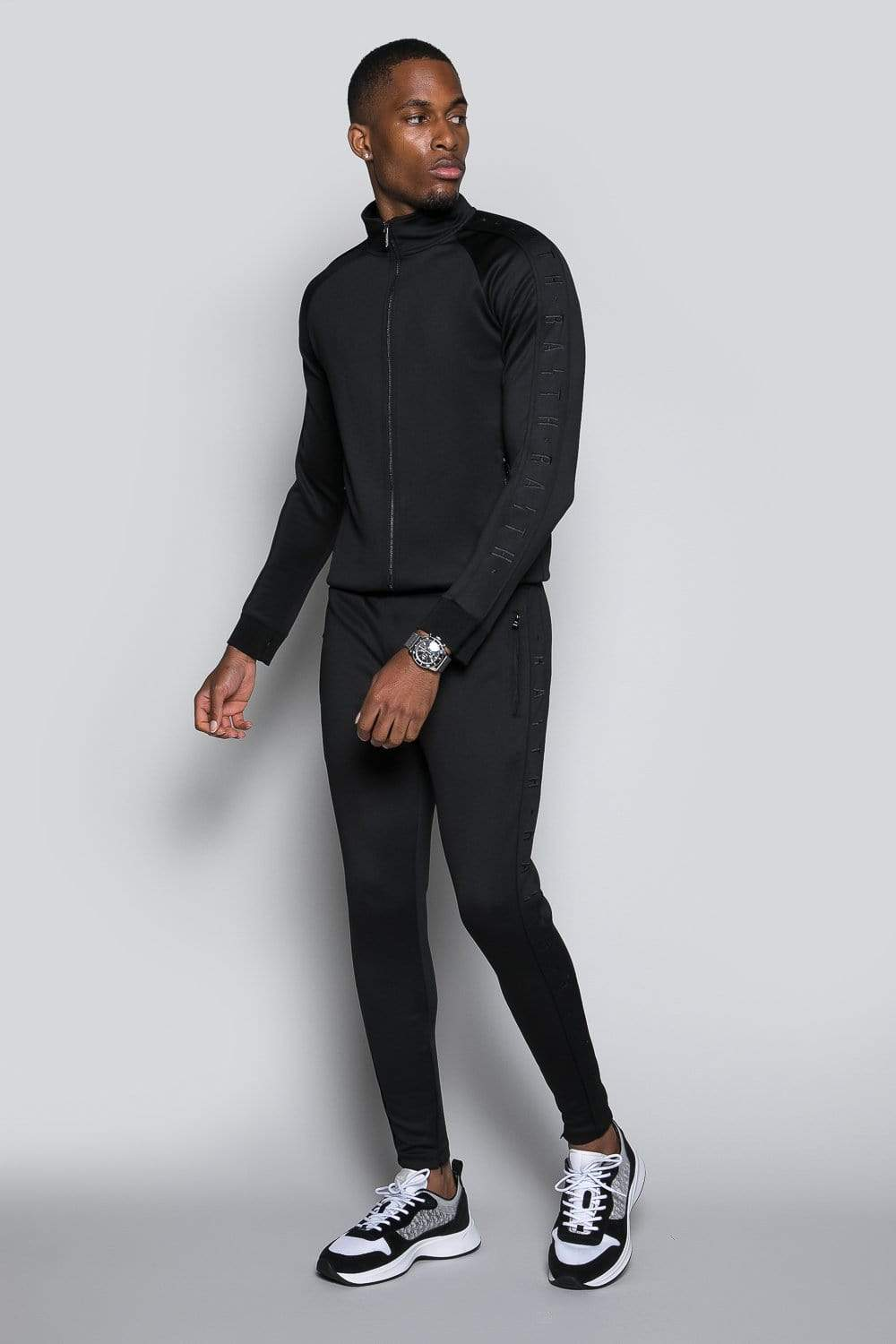 Core Poly Funnel Neck Track Top - Blackout