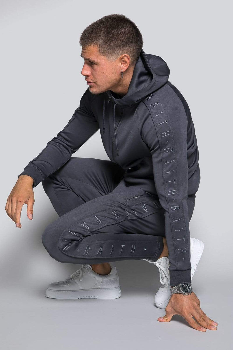 Core Poly Hooded Track Top - Charcoal