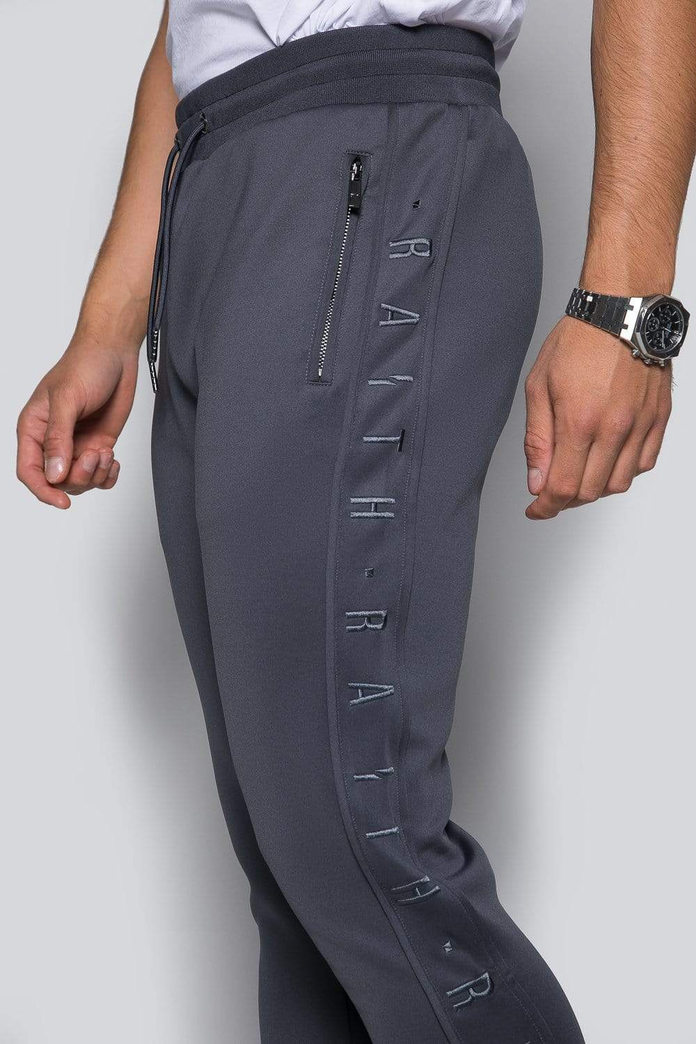 Core Poly Track Pant - Charcoal
